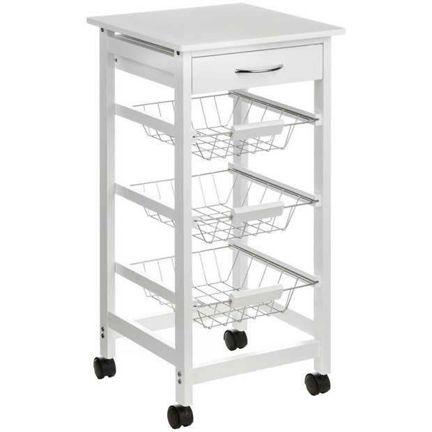 Kitchen Trolley Accessories: Buy Kitchen Trolley Wire Basket White Drawer At Argos.co
