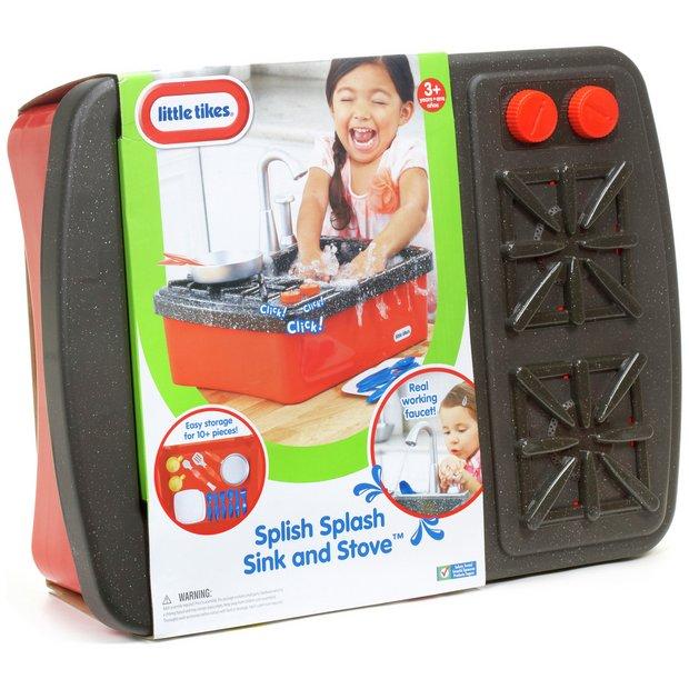 Buy little tikes splish splash sink and stove at for Cuisine bois toys r us