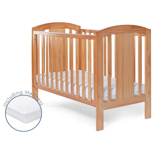 buy baby elegance laba cot with mattress pine at argos. Black Bedroom Furniture Sets. Home Design Ideas