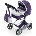 more details on Bayer Dolls Combi Pram - Purple and Grey.