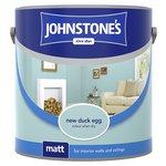more details on Johnstone's Matt Paint 2.5L - New Duck Egg.
