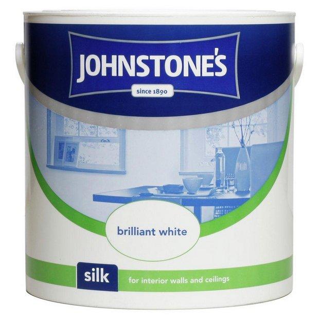 Buy johnstone 39 s brilliant white silk emulsion 2 5l at your online shop for paint - Johnstones exterior paint set ...