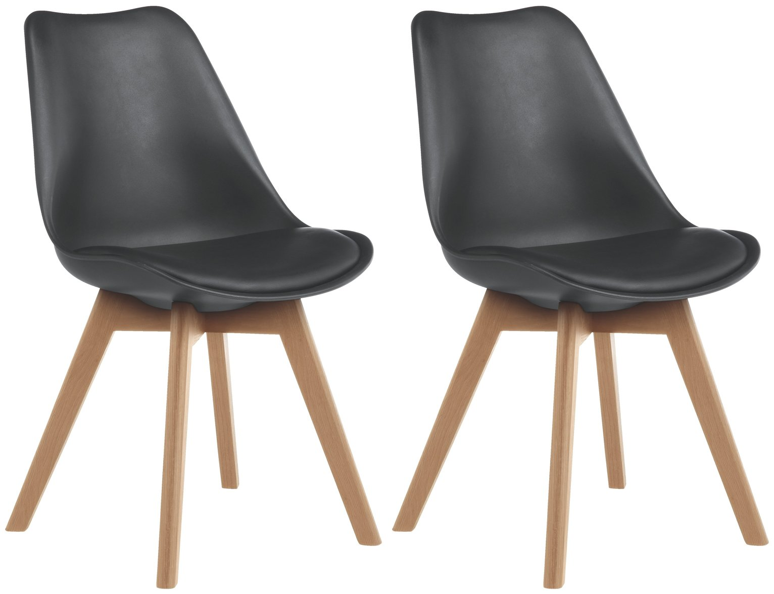 Buy Habitat Jerry Pair Of Dining Chairs Black Dining Chairs Argos