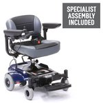 more details on Portable Power Wheelchair - Blue.