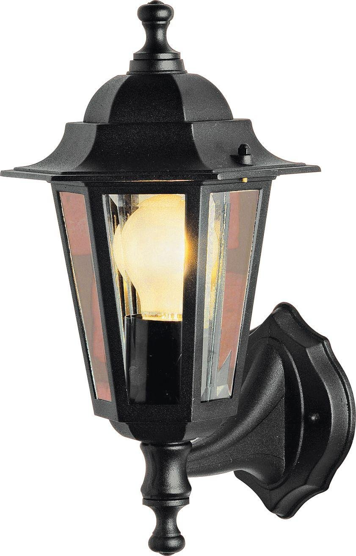 HOME Outdoor Wall Lantern   Black