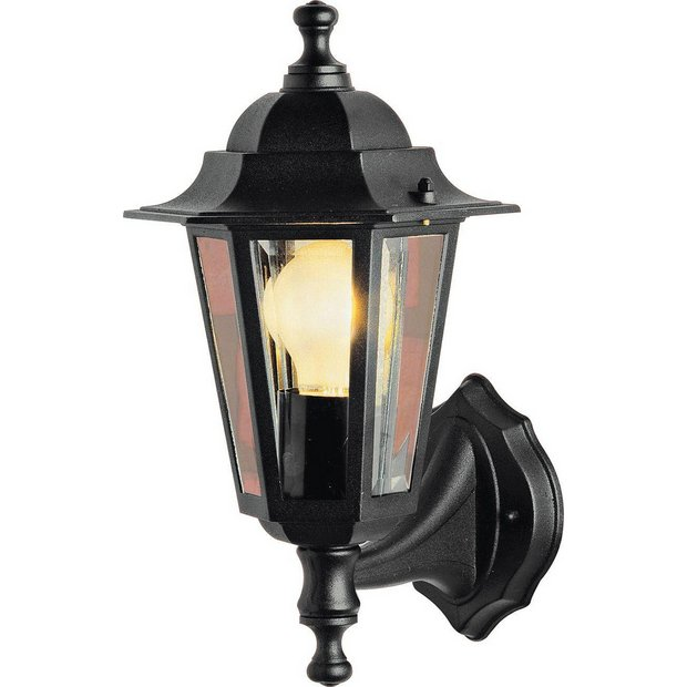 Outside Wall Lights Argos : Buy HOME Black Outdoor Wall Lantern at Argos.co.uk - Your Online Shop for Wall lights and ...