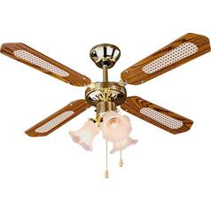 Argos Home Decorative 3 Light Ceiling Fan - Brass