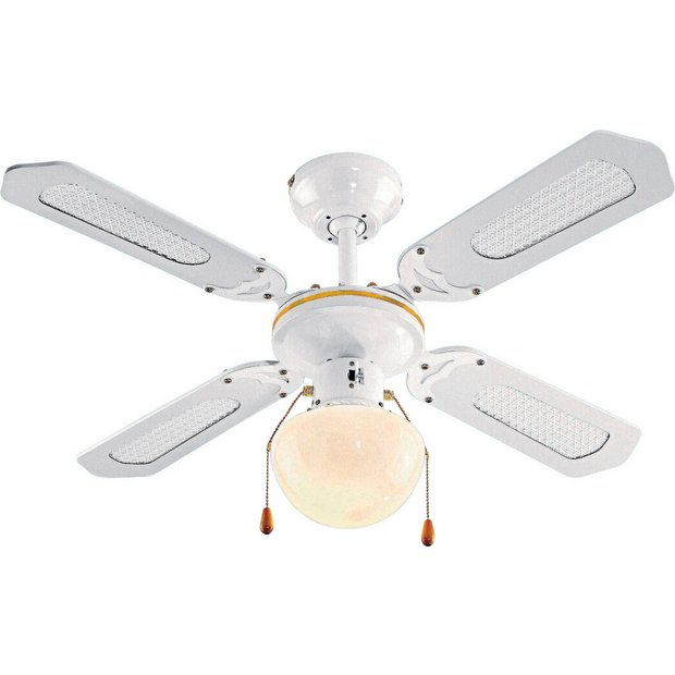 Switched Chandelier Wall Lights : Buy HOME Ceiling Fan - White at Argos.co.uk - Your Online Shop for Ceiling and wall lights ...