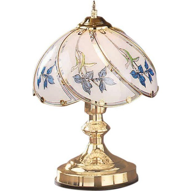 Buy home iris touch table lamp brass at for Lampe de chevet style anglais