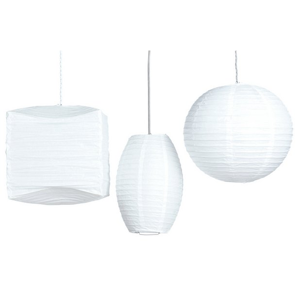 Lamp Shades At Argos: Buy HOME Set of 3 Shades - Cream at Argos.co.uk - Your Online Shop for Lamp  shades, Lighting, Home and garden.,Lighting