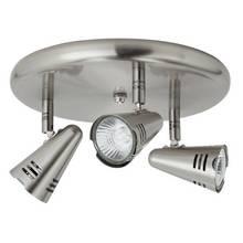 Argos Home Metza 3 Spotlight Ceiling Plate - Silver