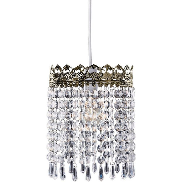 Lamp Shades At Argos: Buy HOME Glacier Pendant Shade - Brass at Argos.co.uk - Your Online Shop  for Lamp shades, Lighting, Home and garden.,Lighting