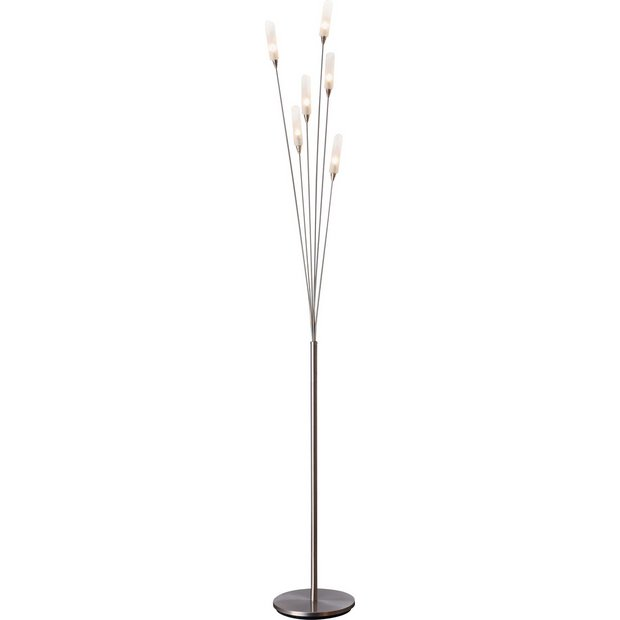 Buy HOME Hyatt 6 Light Floor Lamp - Satin Nickel | Floor lamps | Argos