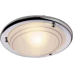 Flush fittings ceiling and wall lights argos argos home flush ceiling fitting chrome aloadofball Images