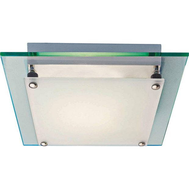 Buy Home Square Glass Flush Ceiling Fitting White At Argos Co Uk Your Online Shop For