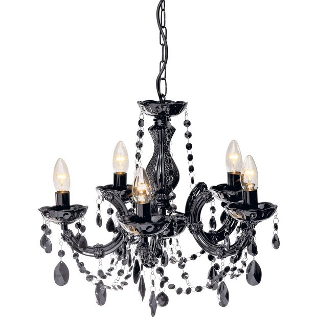 Argos Home Inspire 5 Light Chandelier Black Ceiling And Wall Lights