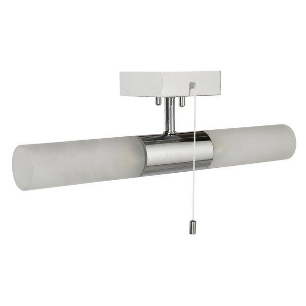 buy home bathroom halogen 2 light wall fitting silver at. Black Bedroom Furniture Sets. Home Design Ideas