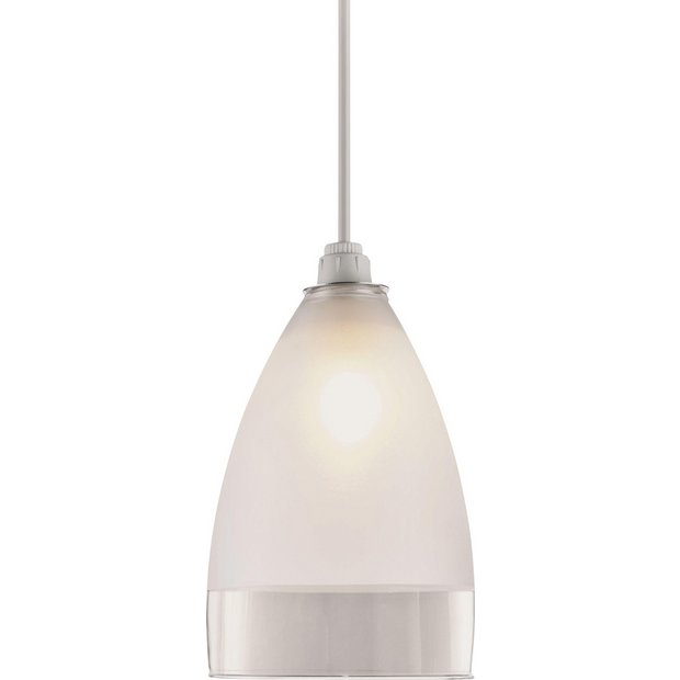 Lamp Shades At Argos: Buy HOME Glass Pendant Shade - Clear and Frosted at Argos.co.uk - Your  Online Shop for Lamp shades, Lighting, Home and garden.,Lighting