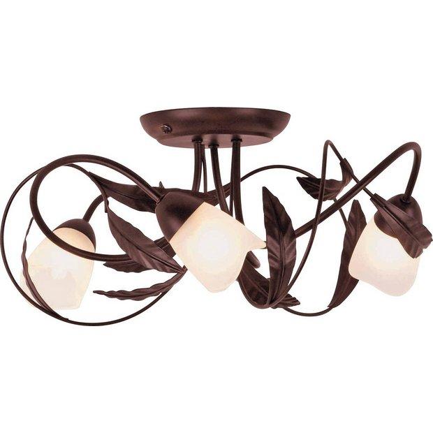 Led Light Fittings Argos: Buy HOME Elana 3 Light Semi Flush Ceiling Fitting