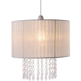 Argos Home Grazia Voile Droplets Shade - Cream