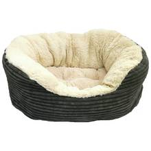 Jumbo Cord Plush Dog Bed - Small