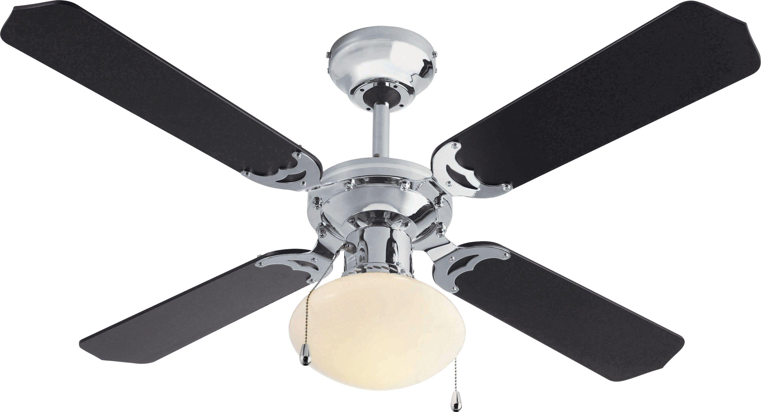 fan ceiling. HOME Ceiling Fan - Black And Chrome