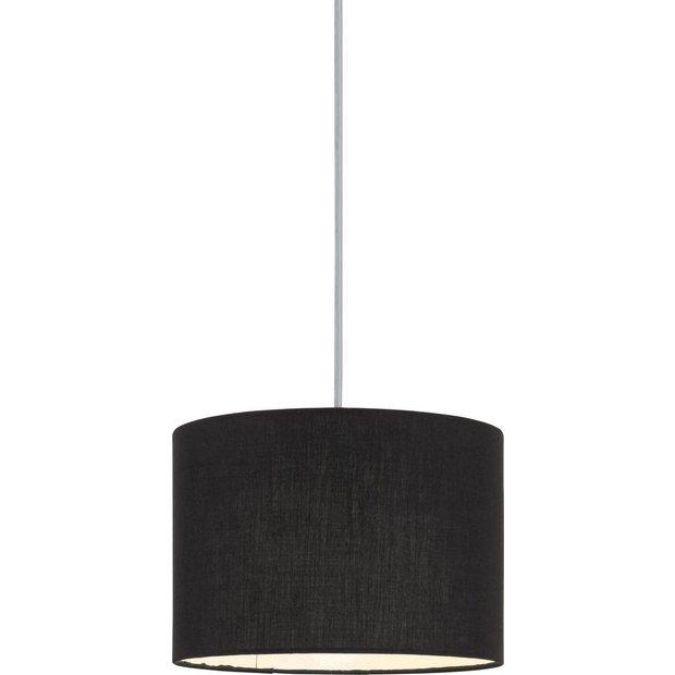 buy colourmatch fabric shade jet black at. Black Bedroom Furniture Sets. Home Design Ideas