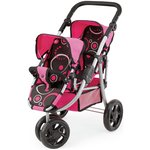 more details on Bayer Dolls Twin Jogger Pushchair - Black.