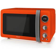 Swan 800W Standard Microwave SM22030ON - Orange