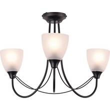 Argos Home Symphony 3 Light Frosted Ceiling Fitting - Black