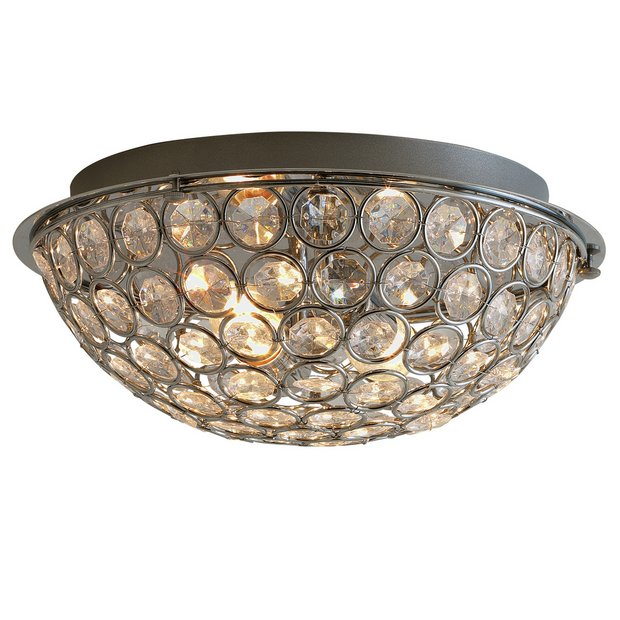 Buy Home Sparkle Round 2 Light Flush Ceiling Fitting