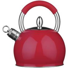 Premier Housewares Stove Top Whistling Kettle - Red