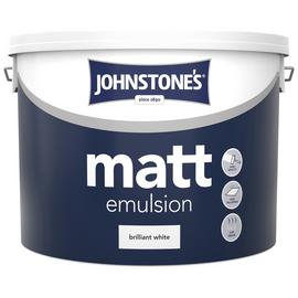 Johnstone's Brilliant White Matt Emulsion 10L