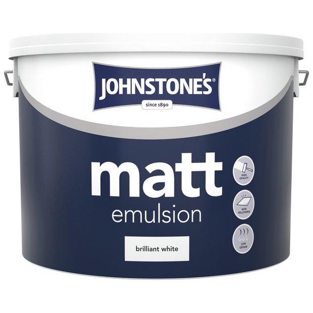 Buy johnstone 39 s brilliant white vinyl matt emulsion 10l at your online shop for - Johnstones exterior paint set ...