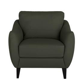 Argos Home Flynn Leather Mix Armchair - Charcoal