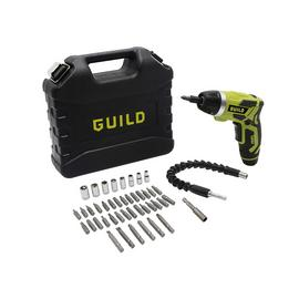 Guild Fast Charge Screwdriver & 45 Piece Accessories - 3.6V