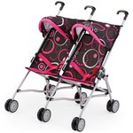 more details on Bayer Dolls Twin Buggy - Black.