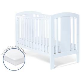 Baby Elegance Laba Cot with Mattress - White