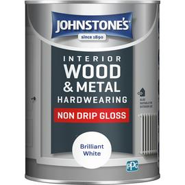 Johnstone's Non Drip Gloss Paint 1.25L - Brilliant White