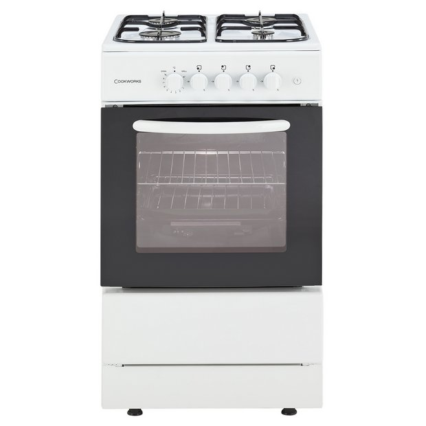 buy cookworks cgs50w single gas cooker white ins del rec. Black Bedroom Furniture Sets. Home Design Ideas