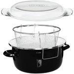 more details on Premier Housewares Enamel Deep Fryer - Black.