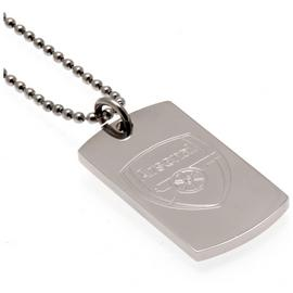 Stainless Steel Arsenal Dogtag and Chain.