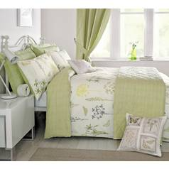 Dreams N Drapes Botanique Green Duvet Cover - Super King