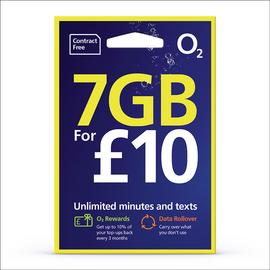 O2 3GB Pay As You Go SIM Card