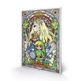 Legend of Zelda Stained Glass Wood Print