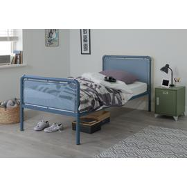 Argos Home Maddox Blue Single Bed Frame