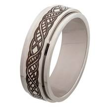 Revere Mens Stainless Steel Celtic Spinning Ring