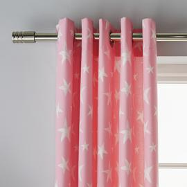 Argos Home Star Lined Eyelet Curtains - Pink