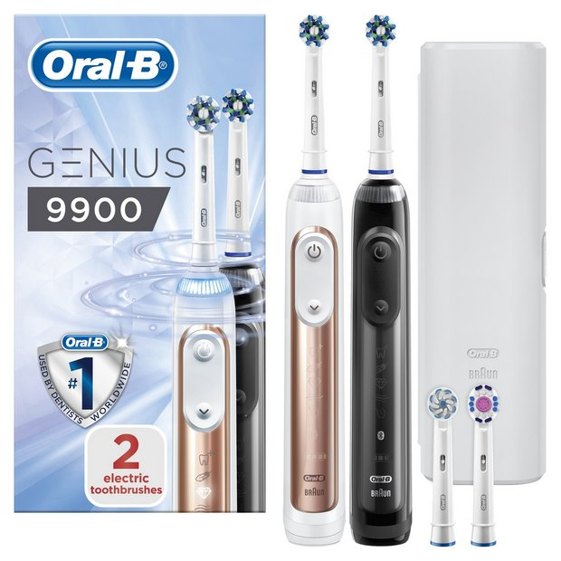 Buy Oral B Genius 9900 Electric Toothbrush Duo Pack | Electric toothbrushes | Argos