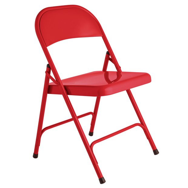 Foldable Garden Table And Chairs Argos: Buy Habitat Macadam Red Metal Folding Chair At Argos.co.uk